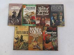 Lot of 7 Harold Lamb TAMERLANE   CYRUS ALEXANDER SULEIMAN BABUR MUSCOVY THEODORA