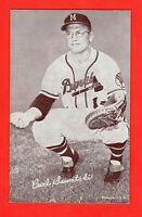 Carl Sawatski  1947-66 Vintage/Original  Exhibit card