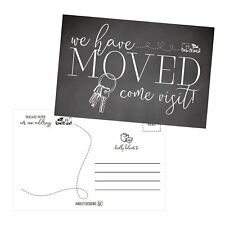 Set of 50 We've Moved Postcards, Change of New Address Moving Announcements, ...