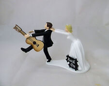 Wedding Reception Party Bride Groom Cake Topper Band Music Guitar Rock & Roll