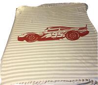 "Disney Cars Lightning McQueen Woven Gray Throw Blanket (50""x60"")"