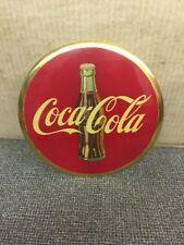 "Vintage Original Coca-Cola 9"" celluloid button sign"