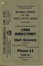 Russell Iowa Old Telephone Directory 1956  MINT