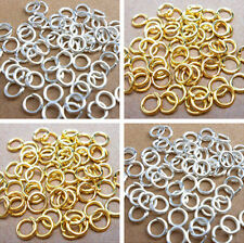 Silver/Gold Plated Open Jump Rings Connector Jewelry Findings 4 5 6 7 8 9 10mm