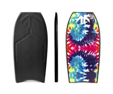 """Bodyboard FOUND Boards MR Crooked 41"""", Black/TyeDye, PP, Crescent Tail"""