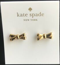 NEW Kate Spade Gold Double Bow Signature Stud Earrings