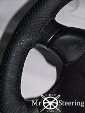 FITS MAZDA BRAVO 1998-2006 PERFORATED LEATHER STEERING WHEEL COVER DOUBLE STITCH