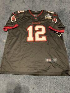Tampa Bay Buccaneers Tom Brady Nike Grey with Red  Super Bowl LV Jersey XXL