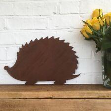 Rusty HEDGEHOG Sign Metal Shop Home Garden Ornament Decoration Animal