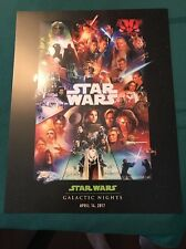 NEW Disney Star Wars Galactic Nights 2017 Celebration Exclusive Poster Ephemera