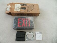Lithonia Extreme All Weather Conditions Aluminum 2-Sided Exit Sign LVS2R 120/227