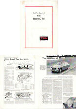 Bristol 407 Period Road Test Reprinted from The Motor in 1961