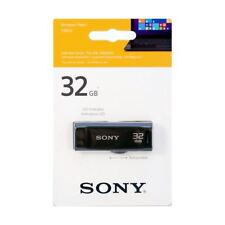 Sony 32GB USB 2.0 Flash Drive with Retractable Connector & LED Activity Light.