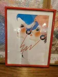 Athena poster 1983 LONG DISTANCE CALL Syd Brak ORIGINAL VINTAGE 38cm Framed 80s
