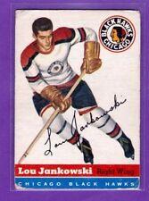 1954-55 TOPPS VINTAGE HOCKEY CARD# 28 LOU JANKOWSKI (CHICAGO BLACK HAWKS)