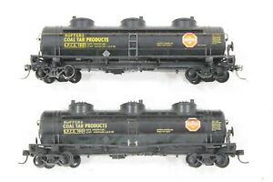 "HO 2 Athearn ""Klopper's Coal Tar Products"" 40ft Triple-Dome Tank Cars +Kadee"