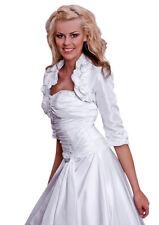 E-85 Brautjacke aus Taft in Creme Größe 40
