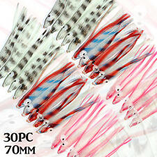 30x 75mm Soft Squid Skirts Occy Skirts Jigging Lures Inchiku Jig Snapper Assist