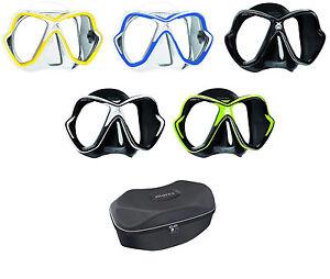 Mares X-Vision Tauchermaske versch. Farben Tauchmaske mit Mares Shell Oval Box
