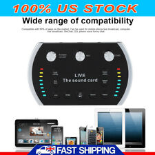 Audio Live Sound Card Device Microphone Headset Mixer Phone Computer Control