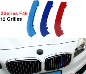 BizTech® Clip In Grill inserts Stripes For BMW 2 Series GT F46,  AT F45 M Sport