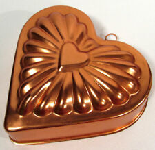 Vintage Heart Copper Food Jello Mold 3 Cup Size