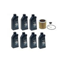 Engine Oil Containers 5W-30 Synthetic & Oil Filter Kit Genuine / Mahle For BMW