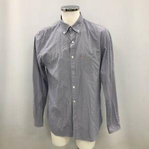 Polo Jeans Shirt Navy Blue White Striped Size XL Men's Button Long Sleeve 091219