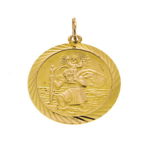 Pre owned 9ct St Christopher Pendant