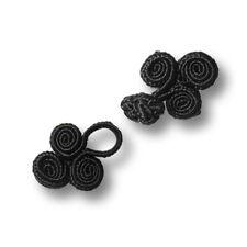 1 kleiner edler schwarzer Posamenten Verschluss mit Spiralen (1236sc-19x36)