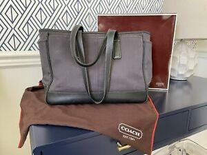 Black COACH Brand Diaper / Weekend / Computer Bag - Large Bucket & Pockets