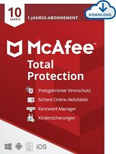 McAfee Total Protection (2020/2021) 10 Geräte 1 Jahr Download