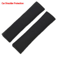 2 Pcs Black Car Seat Belt Shoulder Safety Pads Cover Comfortable Cushion  HQ