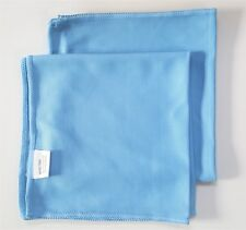 Pack of 10 Glass Cleaning Microfibre Cloth Light Blue Large ii