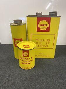 'SHELL' Oil Tins