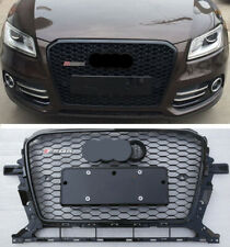 For Audi Q5 SQ5 2013 - 2016 RSQ5 Grille Mesh Quattro Gloss Black Honeycomb