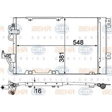 ORIGINAL HELLA Klimaanlage Kondensator Holden Astra 8FC351301-774