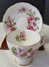 Vintage Royal Standard Ramona Fine Bone China Tea Cup and Saucer Gold Rim