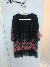 Cute & Sexy Mini H&M Fringed Kimono size S