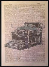 VINTAGE MAQUINA DE ESCRIBIR Impreso Diccionario Página Arte Mural imágenes