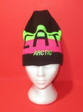 ARCTIC CAT Ski Doo Black, Green & Pink Beanie Hat Snowmobile Toque