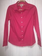 Nwt Jcrew Womens Pink Classic Button Down Shirt Blouse Long Sleeve Size S