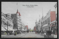 Main Street Looking East Boise Idaho ID 1908 postcard