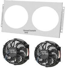 "Chevy Monte Carlo Radiator Fan Shroud, Dual 14"" Fans & Relay Wiring Kit,Fits 28"""
