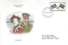 DOMINICA FDC - ROYAL VISIT - FLAGS OF UK & DOMINICA - CACHETED - NICE!