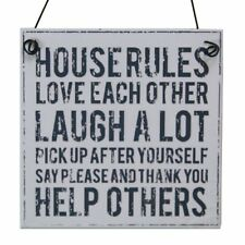 Metal house rules signe ~ house rules plaque