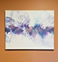 "Abstract Modern Acrylic Pour Painting on Canvas-Beautiful Wall Art 20"" x 16"""