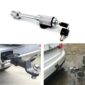 """1PC Silver Trailer Hitch Lock 5/8"""" Steel Hitch Pin w/Keys Heavy Duty Tow Locking"""