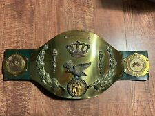 Real Trophy Shop Style Intercontinental Championship Wrestling Belt SIGNED! WWE