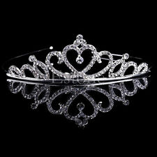 Shining Wedding Bridal Princess Crystal Prom Hair Tiara Crown Comb Veil Headband